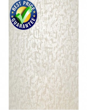 1 panels of  Pearlescent White wet wall pvc panel 250mm x 2700mm x 5mm thick