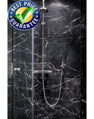 Black Marble 1M x 2.4m Wet Wall Bathroom Wall Panel...................